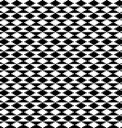 Black and white ethnic motifs carpet vector image vector image