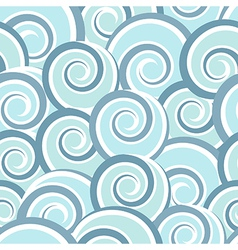 Blue abstract seamless pattern with swirls vector image vector image