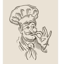 chef sketch vector image