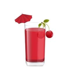 Juice in Glass vector image vector image