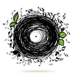 music sketch concept vector image