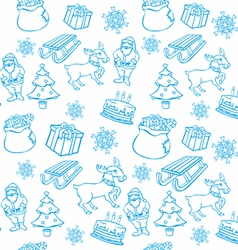 seamless background with christmass items vector image