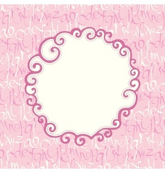 Seamless pattern with hand drawn letters and frame vector image vector image