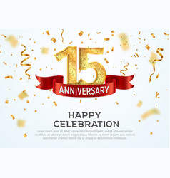 15 years anniversary banner template vector