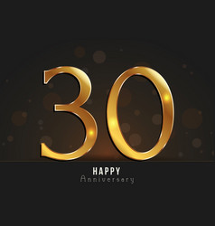 30 years happy anniversary card vector image