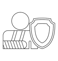 A man with a broken hand icon outline style vector image