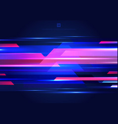Abstract blue and pink geometric motion with vector