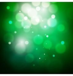 Abstract circular green bokeh background vector image
