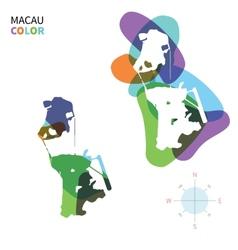 Abstract color map macau vector