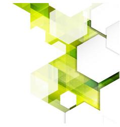 Abstract modern hexagon geometric template vector