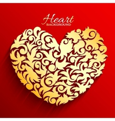 abstract ornament heart background concept vector image