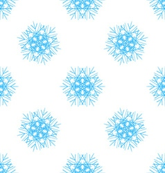 Abstract seamless pattern with snowflake vector image