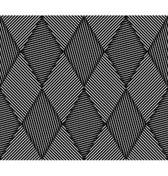 Abstract Striped Rhombuses Geometric Seamless vector image