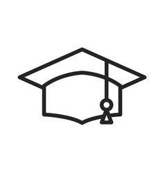 academic graduation cap icon vector image