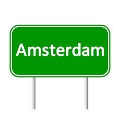 Amsterdam road sign vector