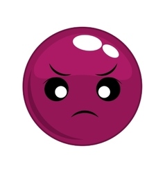 angry face cartoon expression icon graphic vector image