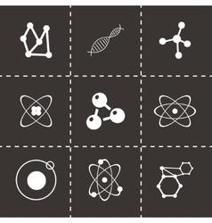 atom icon set vector image vector image