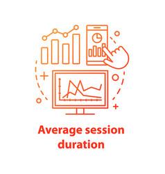 Average session duration concept icon vector