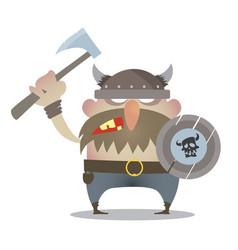 battle cry vikings vector image