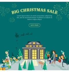 Big Christmas Sale Flat Design Web Banner vector
