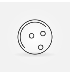 Bowling ball icon or logo vector
