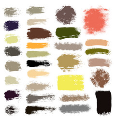 Brush strokes set 16 vector