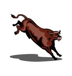 Bull Jumping vector