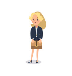 Businesswoman character animate character young vector