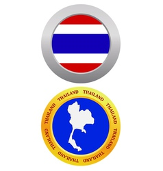 button as a symbol THAILAND vector image