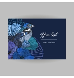 card with floral postcard vector image