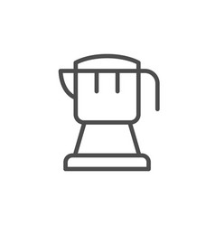 coffee kettle line icon vector image