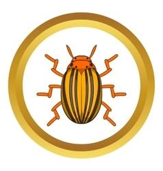 Colorado potato beetle icon vector