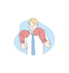 competition boxing challenge business concept vector image