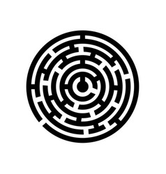 concept of circle labyrinth vector image