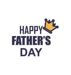 crown father day badge sticker logo icon design vector image