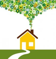 environmentally house vector image