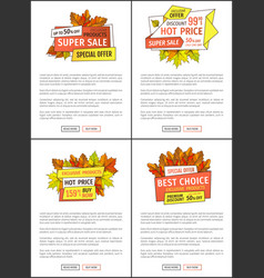 Exclusive offer thanksgiving special price posters vector