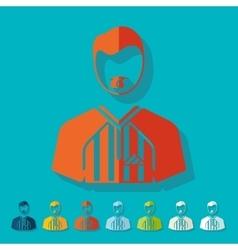 Flat design referee vector image