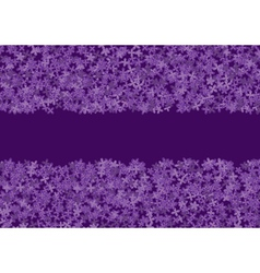 floral banner with lilac vector image vector image
