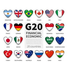 g20 group twenty countries and membership vector image