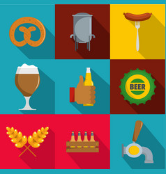 Gastronome icons set flat style vector