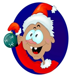 Gnome with a Christmas Toy vector image