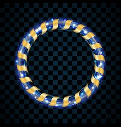 gold and blue circle isolated on transparent black vector image