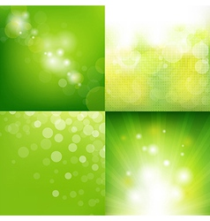Green Eco Background With Blur Set vector image