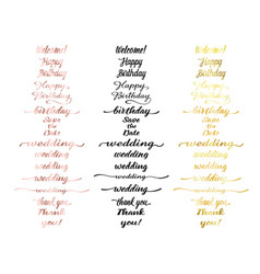 Greeting lettering set vector