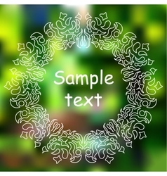 Hand-sketched mandala on blurred background vector image