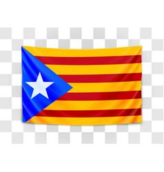hanging flag catalonia catalonia referendum vector image