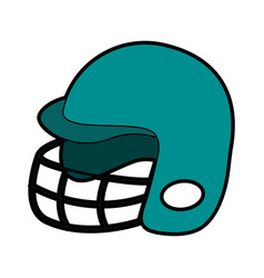 helmet baseball related icon image vector image