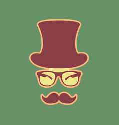 Hipster accessories design cordovan icon vector