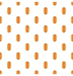 Hot dog pattern cartoon style vector image